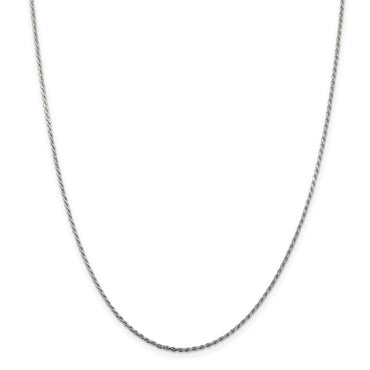 Sterling Silver 1.1mm Diamond-cut Rope Chain QDC015 - shirin-diamonds