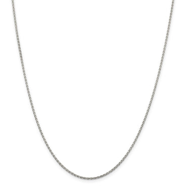 SS Rhodium Plated 1.5mm w/2in ext. D/C Spiga Chain QDS045RH - shirin-diamonds