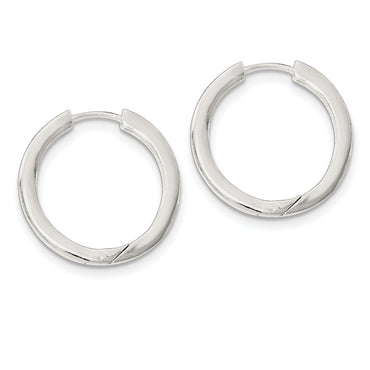Sterling Silver Hinged Hoop Earrings QE11545 - shirin-diamonds