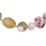 Sterling Silver Agate, Carnelian, Jasper, MOP, Quartz w/2in ext Necklace QH5277 - shirin-diamonds
