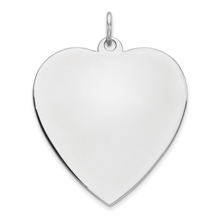Sterling Silver Engraveable Heart Polished Front/Satin Back Disc Charm QM394/27 - shirin-diamonds