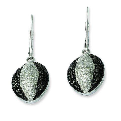 Sterling Silver & CZ Brilliant Embers Leverback Earrings QMP442 - shirin-diamonds