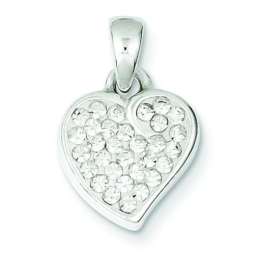 Sterling Silver Stellux Crystal Heart Pendant QP1394 - shirin-diamonds