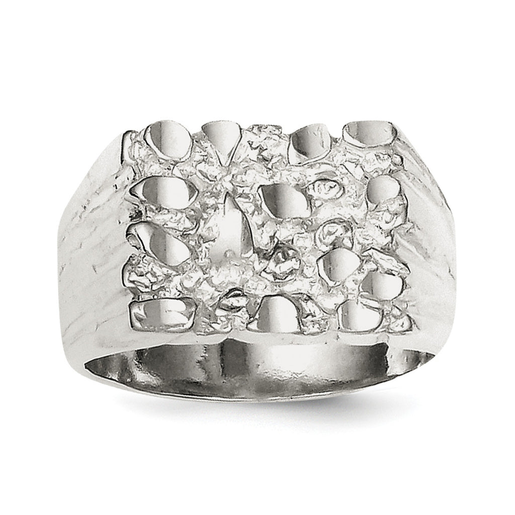 Sterling Silver Nugget Ring QR126 - shirin-diamonds