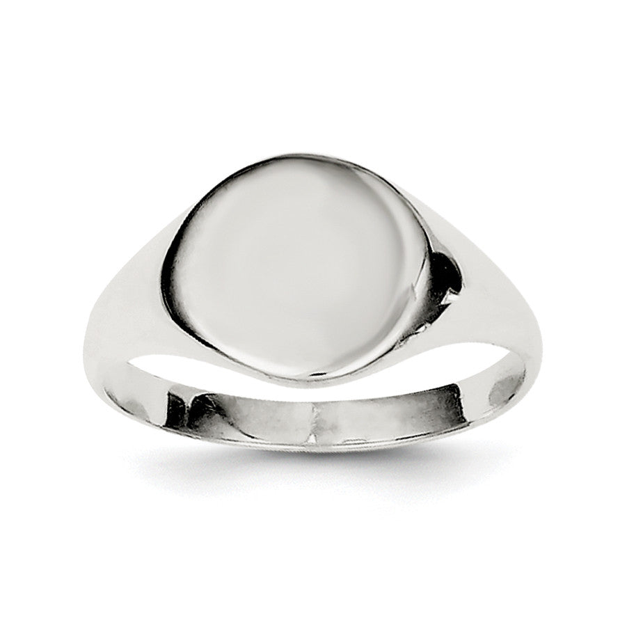 Sterling Silver Signet Ring QR2426 - shirin-diamonds