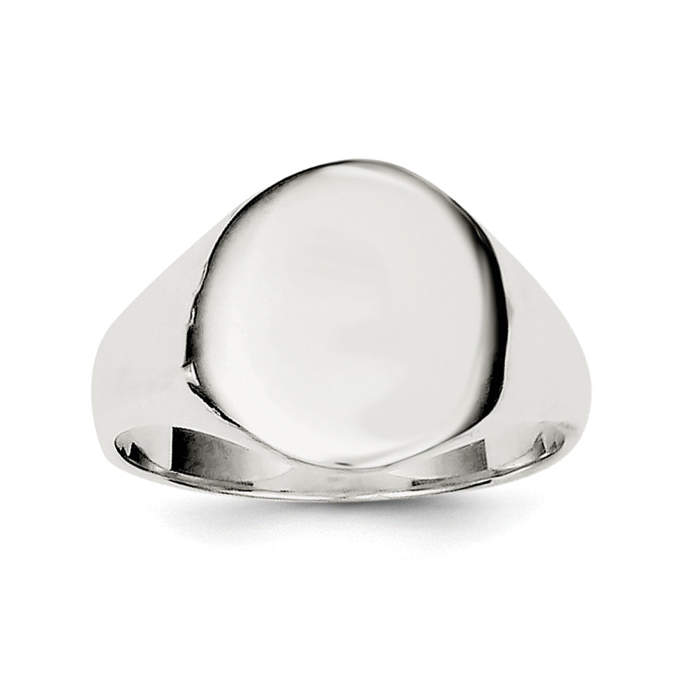 Sterling Silver Signet Ring QR2471 - shirin-diamonds