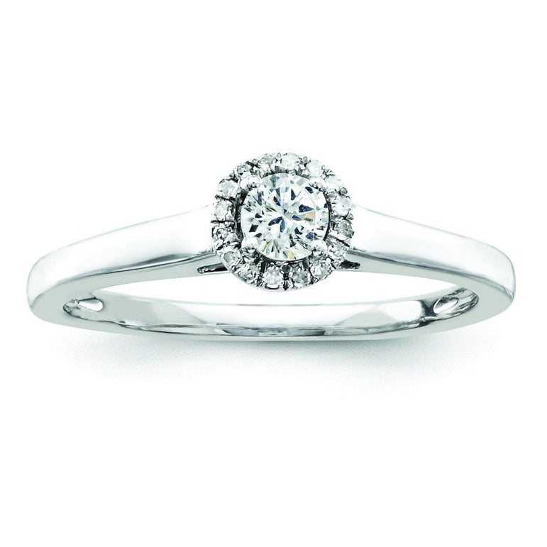 Sterling Silvadium Belle Amore Diamond S/M Engagement Ring - shirin-diamonds
