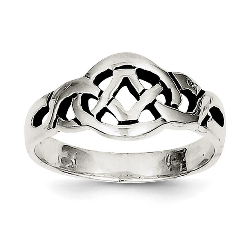 Sterling Silver Antiqued Ring - shirin-diamonds