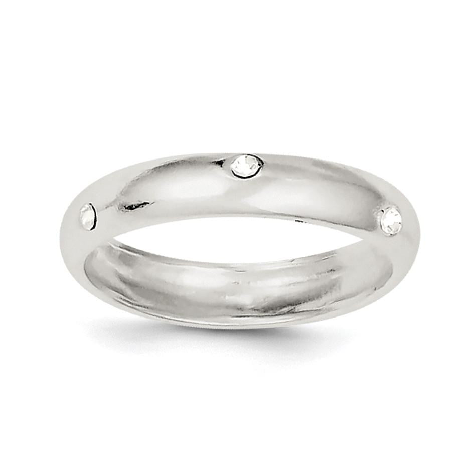 Sterling Silver Stellux Crystal Ring - shirin-diamonds