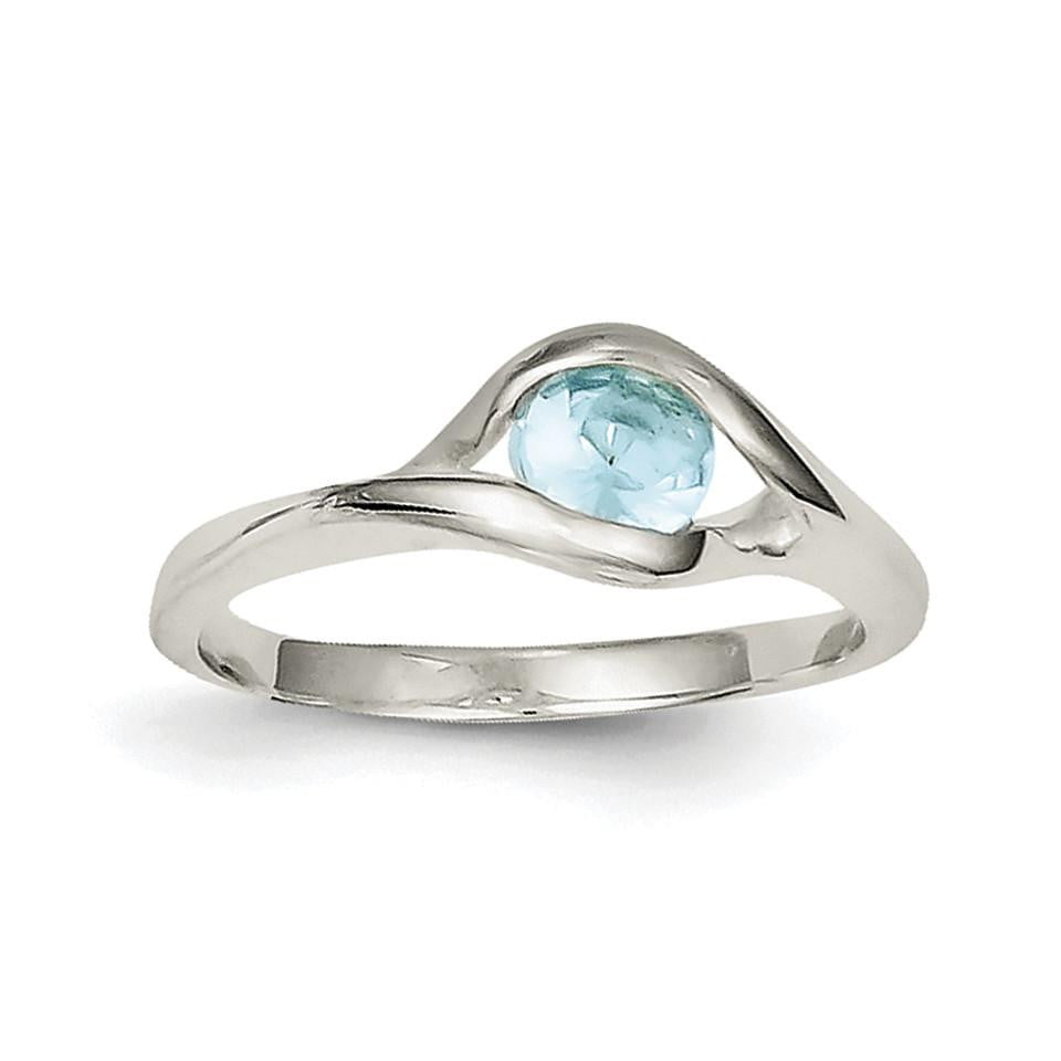 Sterling Silver Blue Glass Ring - shirin-diamonds