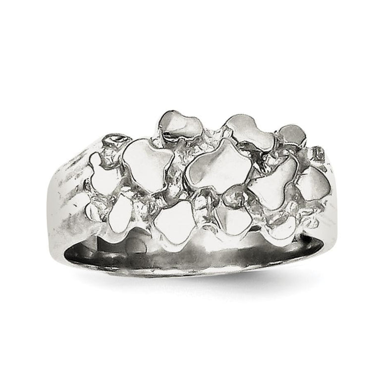 Sterling Silver Woman's Nugget Ring - shirin-diamonds