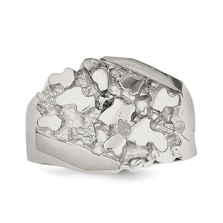 Sterling Silver Men's Nugget Ring - shirin-diamonds