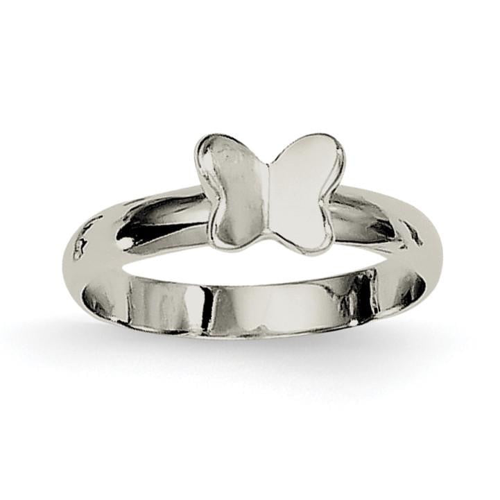 Sterling Silver Butterfly Ring - shirin-diamonds