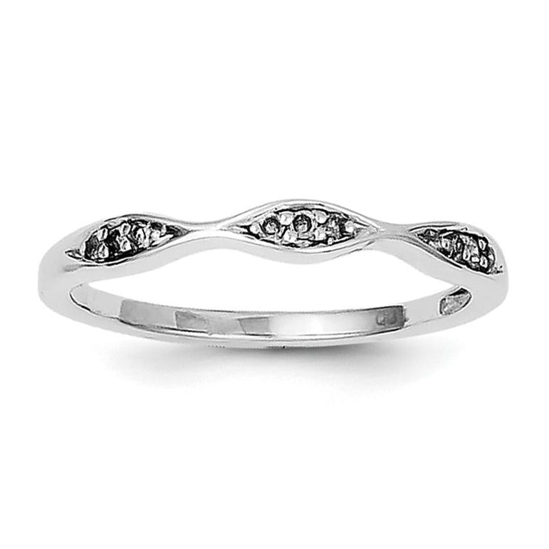 Sterling Silver Rhodium Plated Diamond Ring - shirin-diamonds