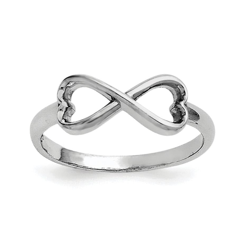 Sterling Silver Infinity Heart Ring - shirin-diamonds