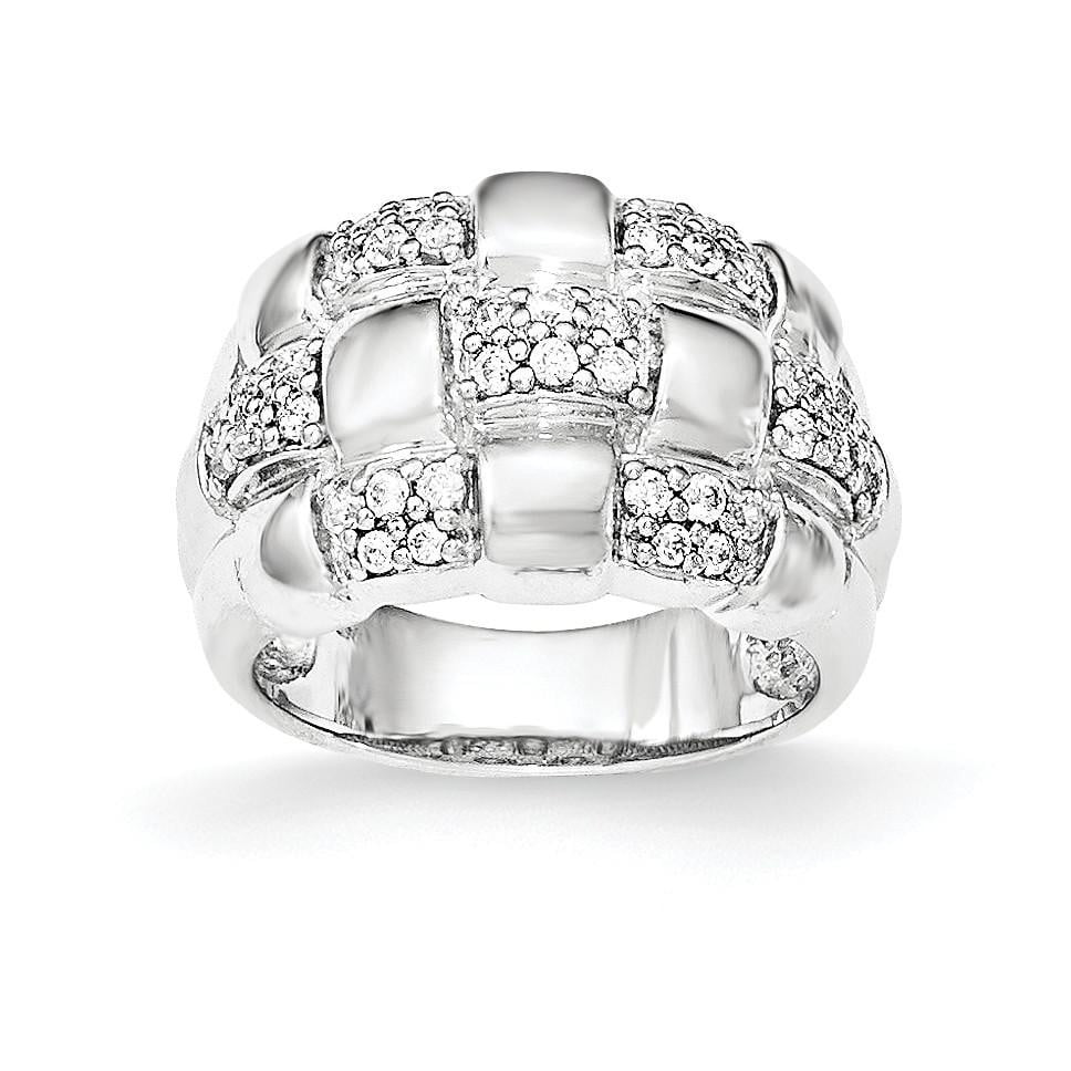 Sterling Silver Patterned Ring - shirin-diamonds