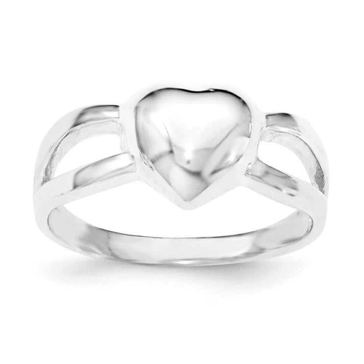 Sterling Silver Polished Heart Ring - shirin-diamonds