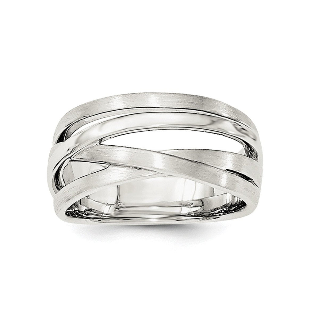 Sterling Silver Brushed Ring - shirin-diamonds