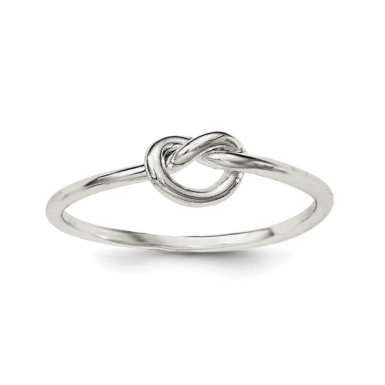 Sterling Silver Polished Knot Ring - shirin-diamonds