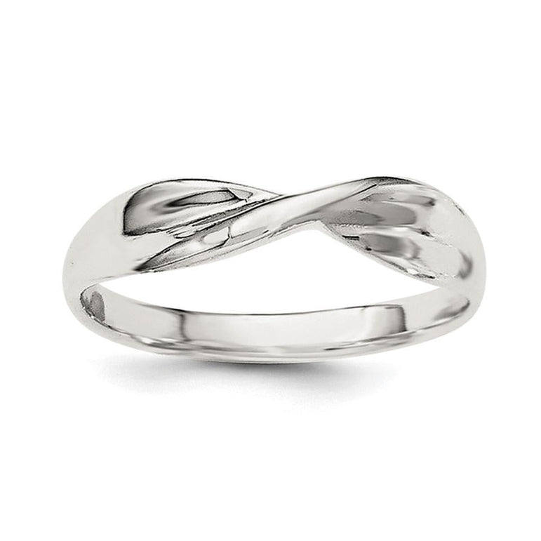 Sterling Silver Polished Twist Ring - shirin-diamonds
