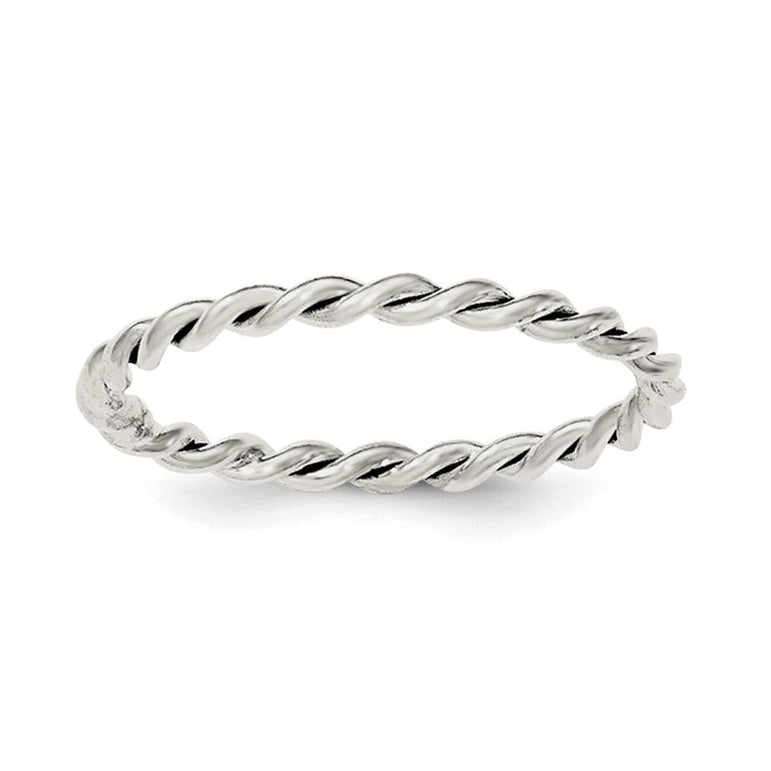 Sterling Silver Polished Twisted 1.75mm Women's Ring - shirin-diamonds