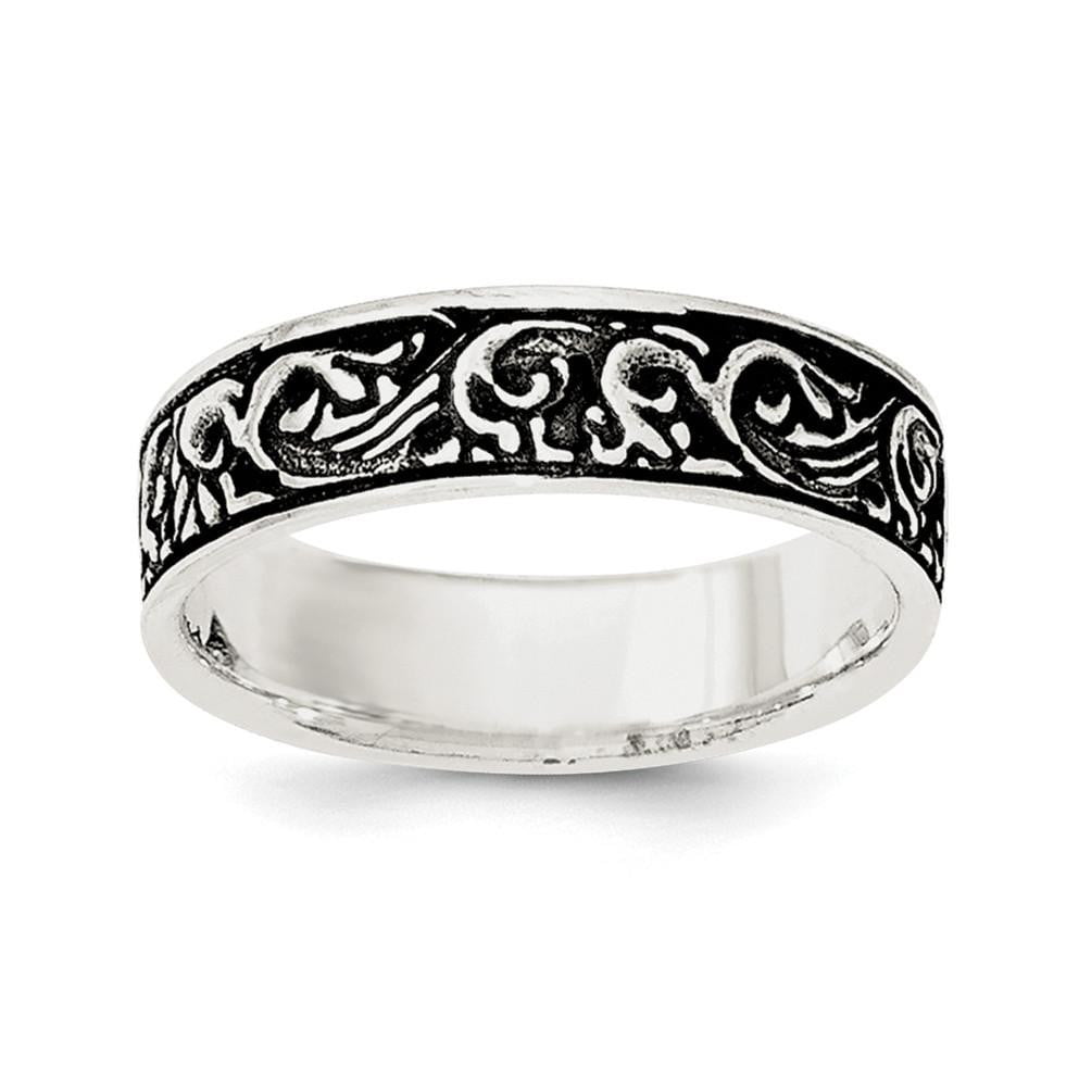 Sterling Silver Polished and Antiqued Filigree Women's Ring - shirin-diamonds