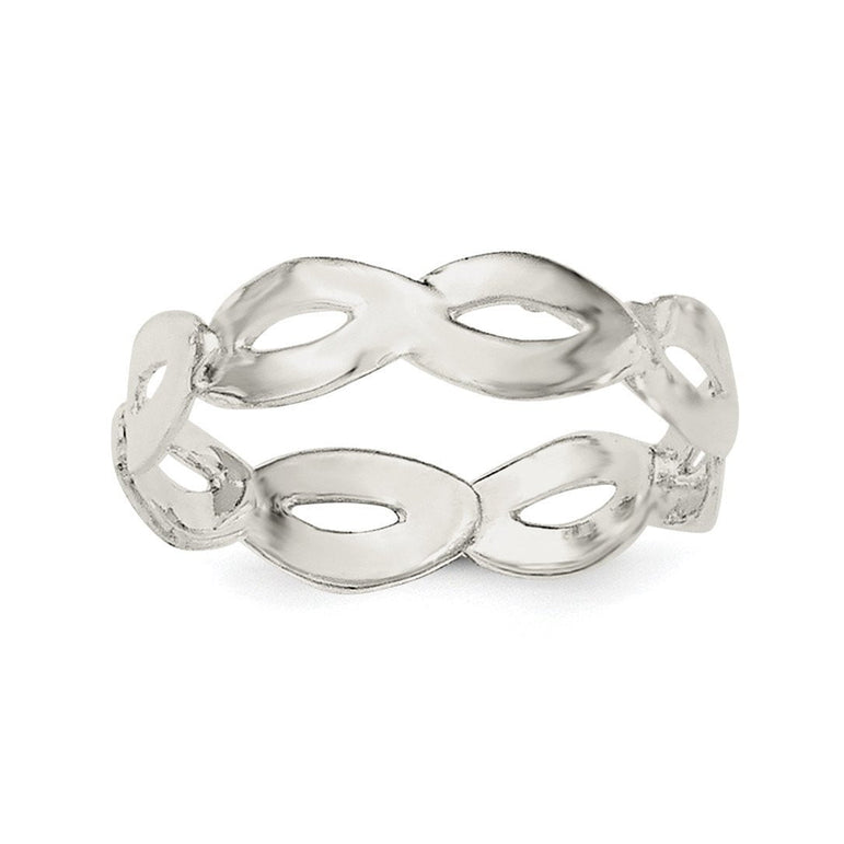 Sterling Silver Polished Wavy Ring - shirin-diamonds