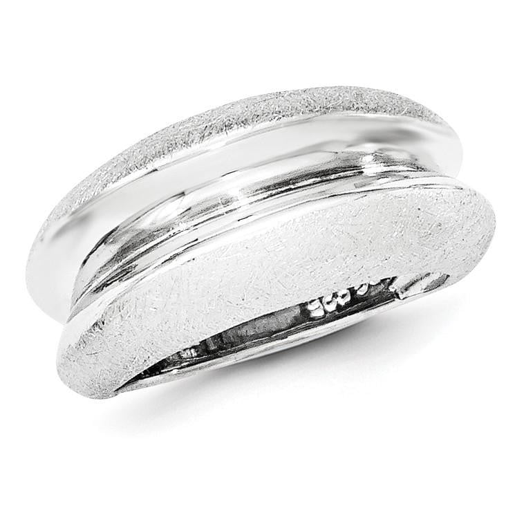 Sterling Silver Polished & Satin Ring - shirin-diamonds