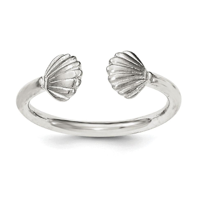 Sterling Silver Shell Ring - shirin-diamonds