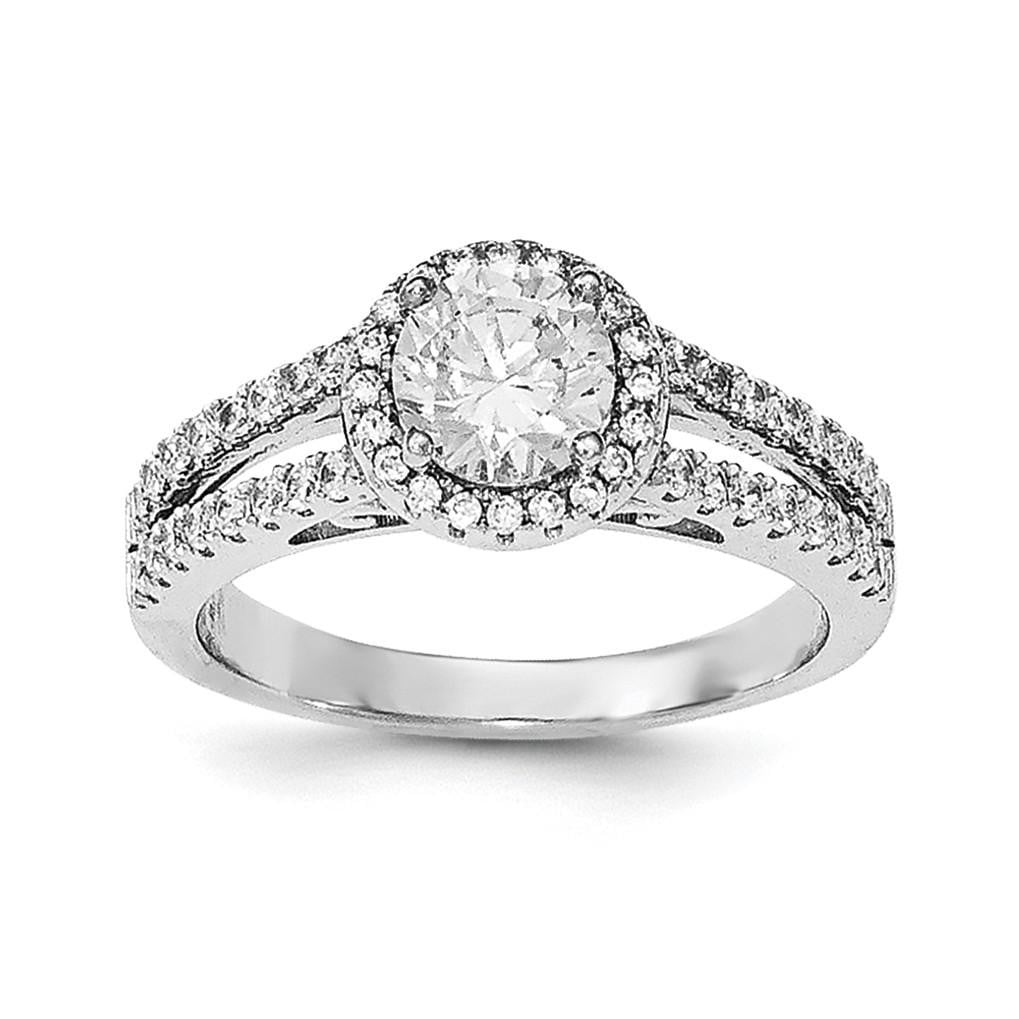 Sterling Silver Rhodium-plated & CZ Ring - shirin-diamonds