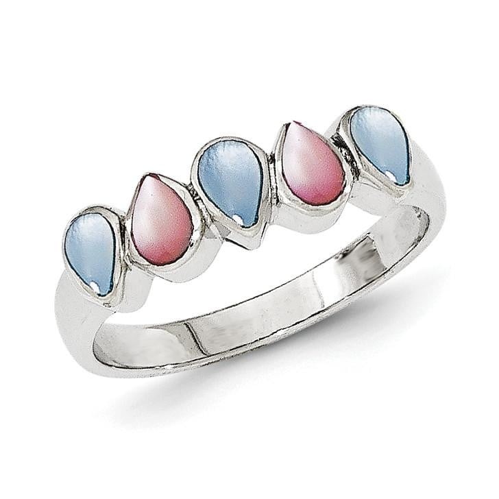 Sterling Silver Polished Mother of Pearl Ring - shirin-diamonds