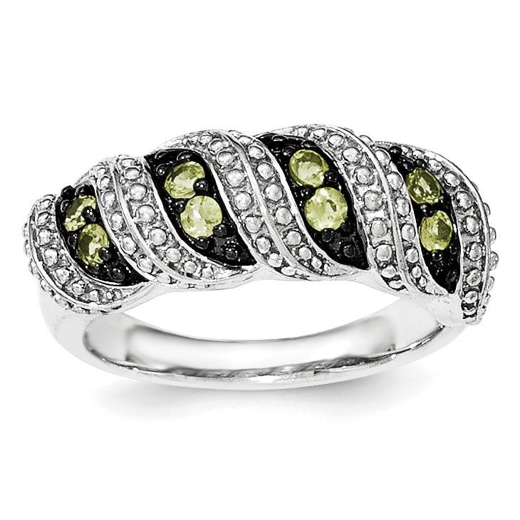 Sterling Silver Peridot Ring - shirin-diamonds