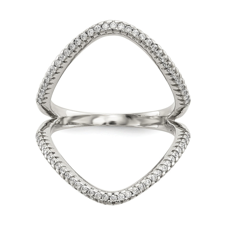 Sterling Silver CZ Ring - shirin-diamonds