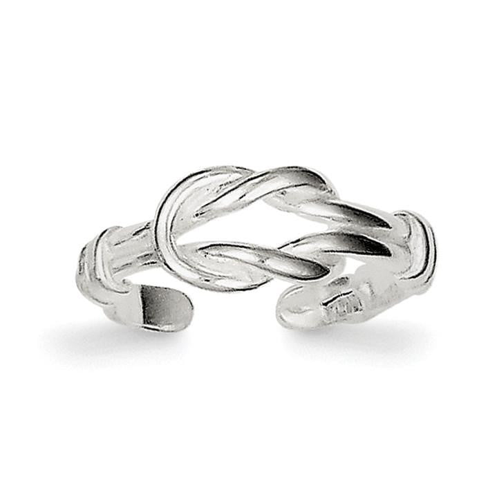 Sterling Silver Love Knot Toe Ring - shirin-diamonds