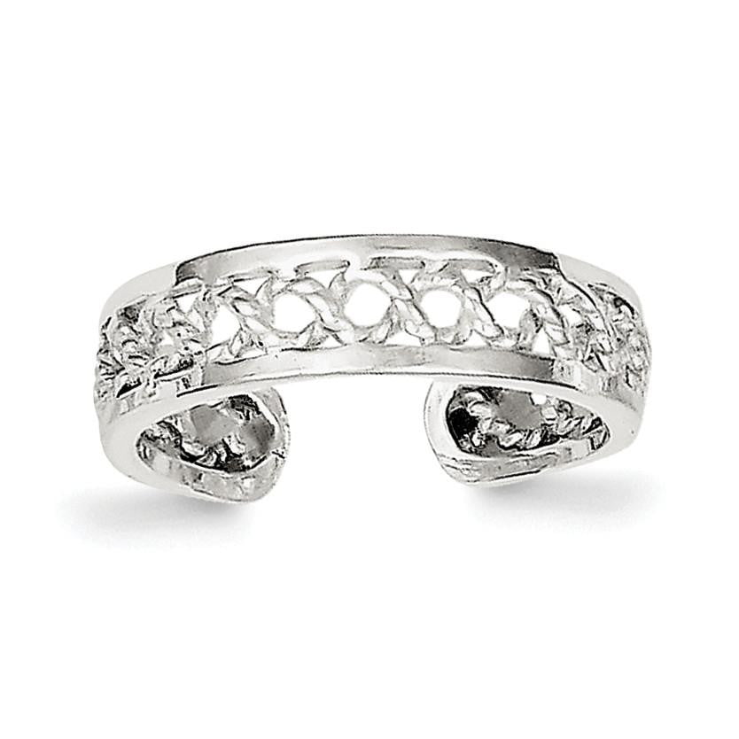 Sterling Silver Solid Toe Ring - shirin-diamonds