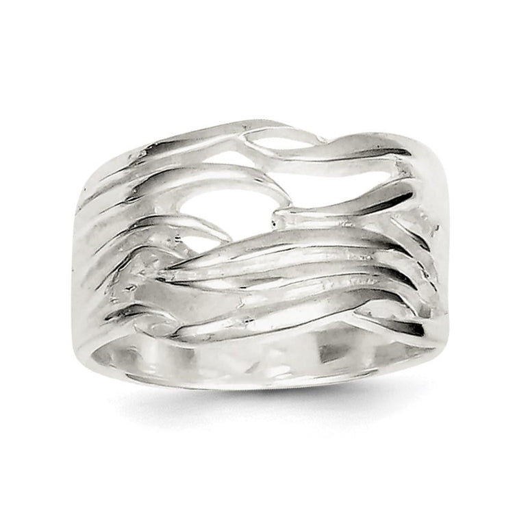 Sterling Silver Solid Fancy Ring - shirin-diamonds