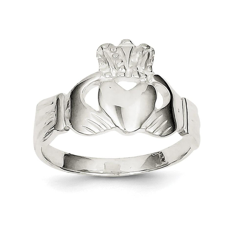 Sterling Silver Solid Claddagh Ring - shirin-diamonds