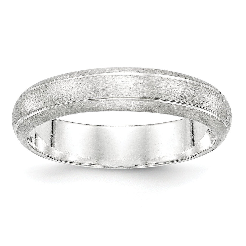 Sterling Silver 5mm Satin Finish Band - shirin-diamonds