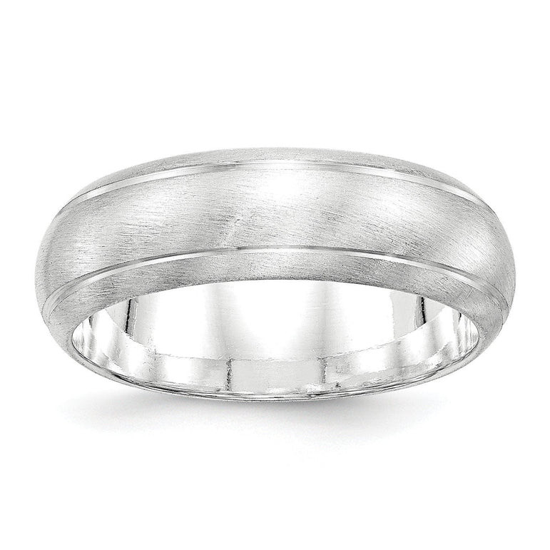 Sterling Silver 7mm Satin Finish Band - shirin-diamonds
