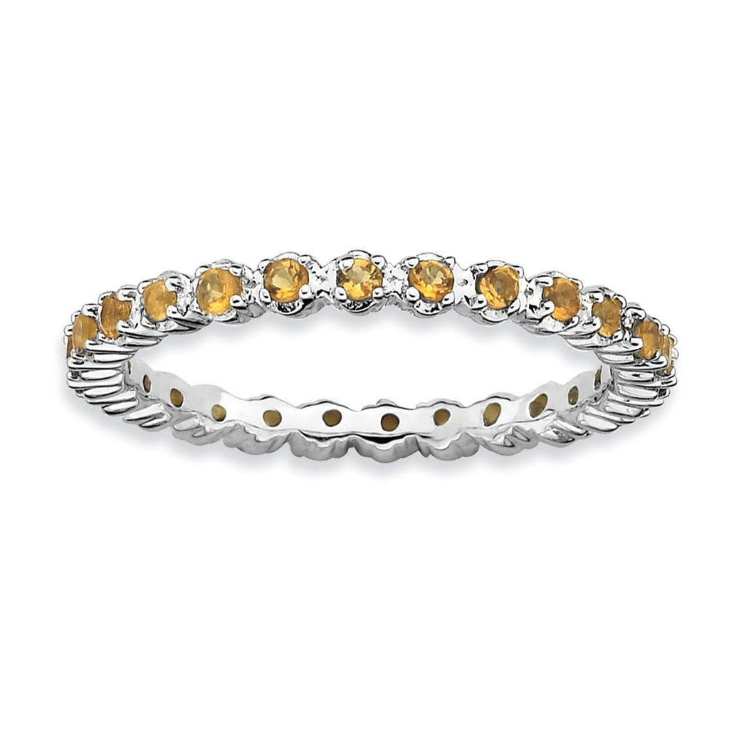 Sterling Silver Stackable Expressions Citrine Ring