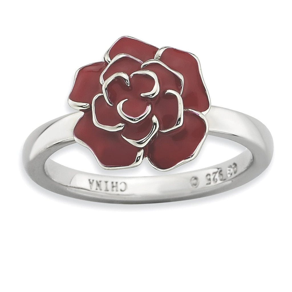 Sterling Silver Stackable Expressions Rose Ring - shirin-diamonds