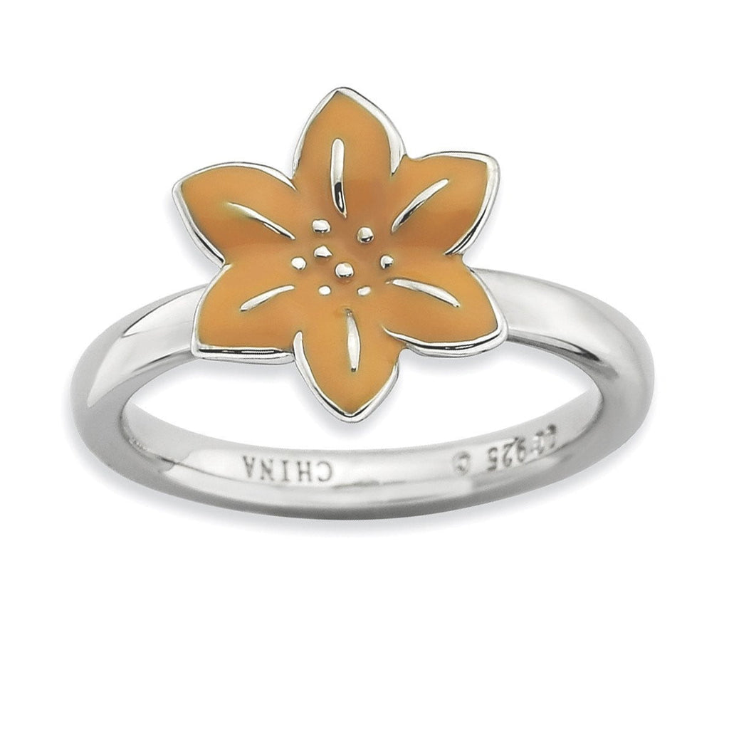 Sterling Silver Stackable Expressions Gladiolus Ring - shirin-diamonds