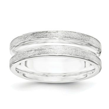 SS 7mm Brushed Fancy Band Size 10.5 - shirin-diamonds