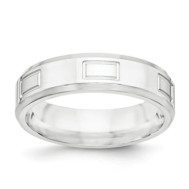 SS 6mm Polished Fancy Band Size 13 - shirin-diamonds