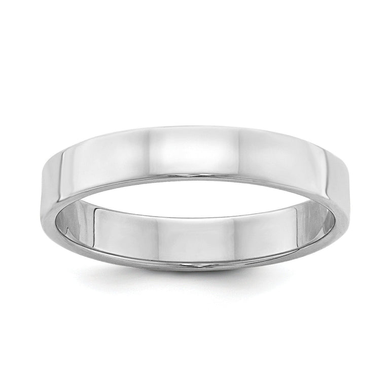 Sterling Silver 4mm Flat Band - shirin-diamonds