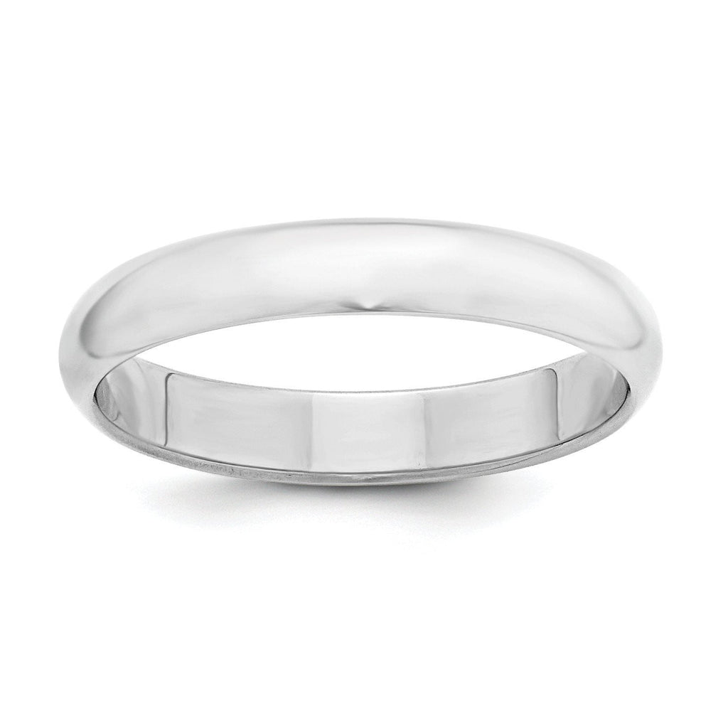 Sterling Silver 4mm Half-Round Band - shirin-diamonds