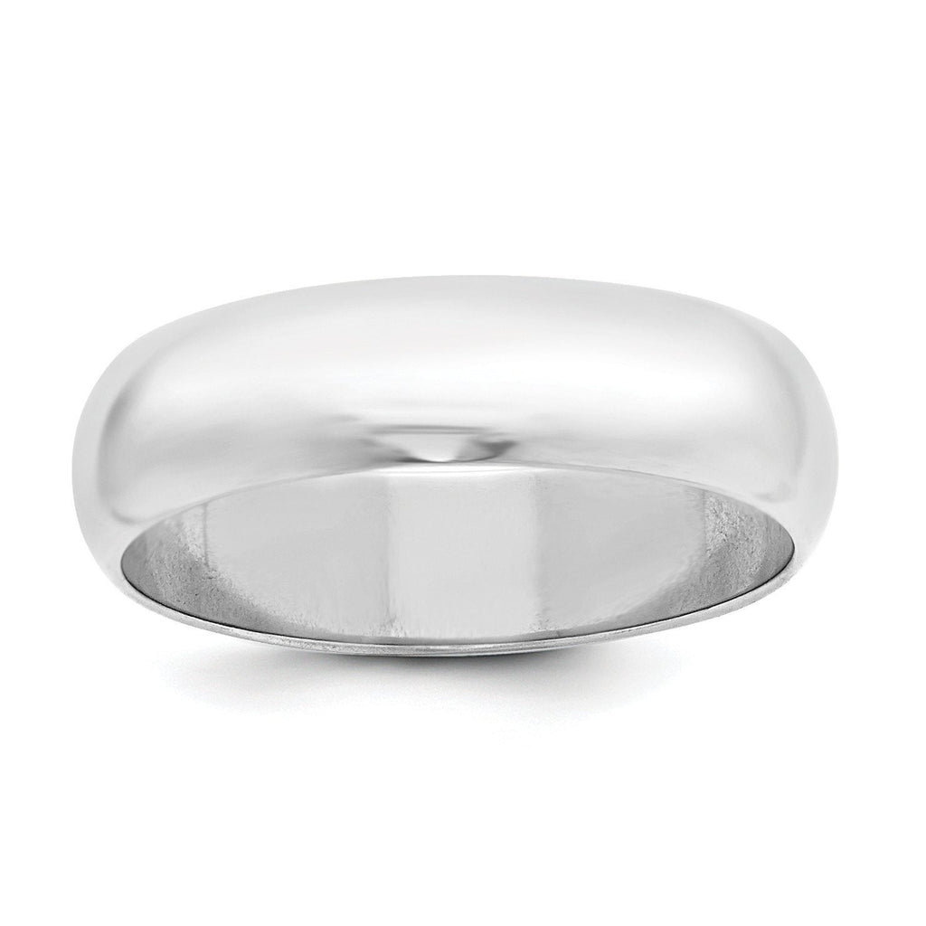 SS 6mm Half Round Size 13 Band