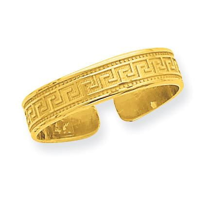 14k Greek Key Toe Ring