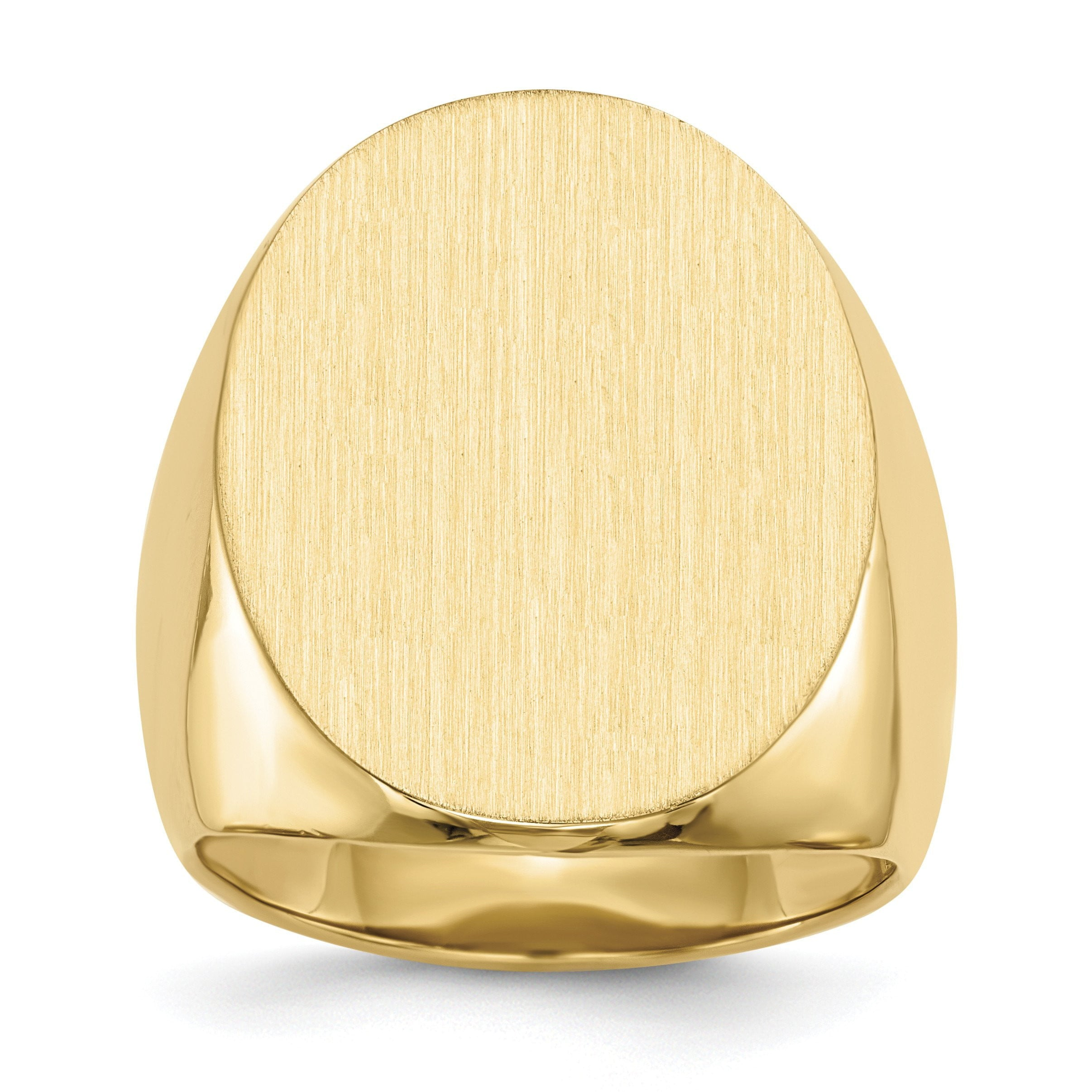 14k Men's Signet Ring RS122 - shirin-diamonds