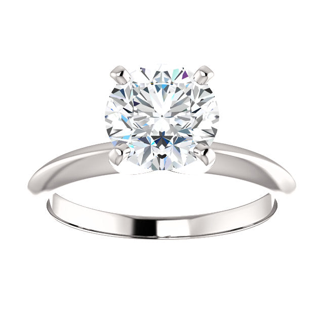 EGL Certified Round Brilliant Cut 1.52CTW Solitaire Diamond Ring in Platinum